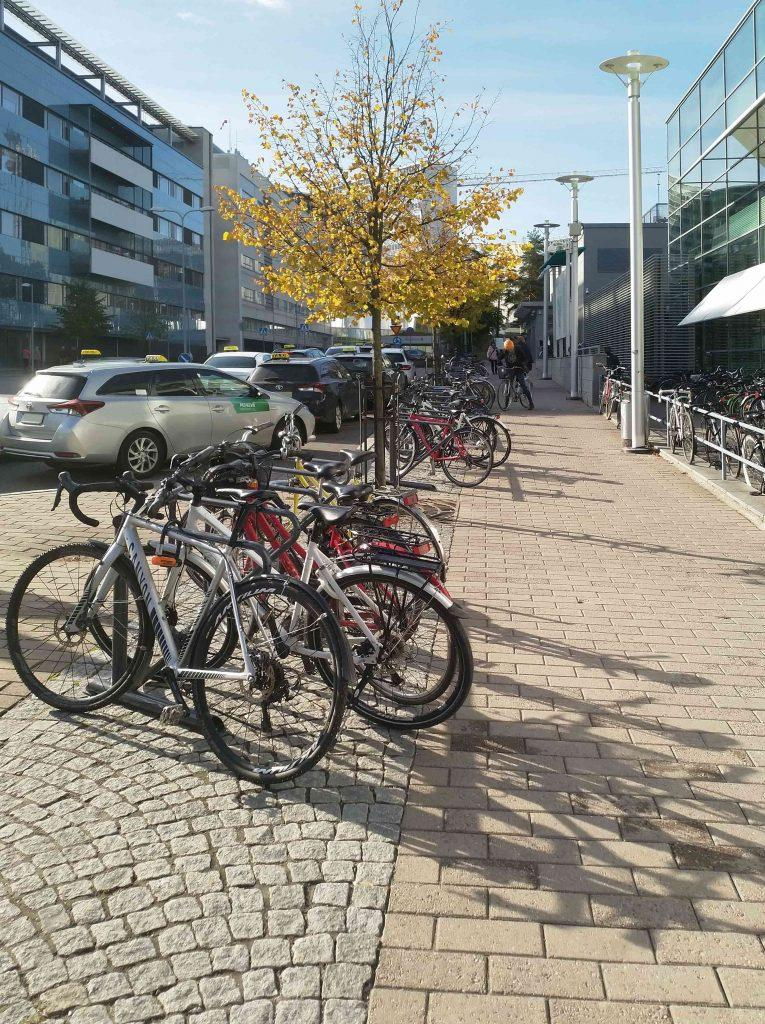 The smart mobility project for 2019 included launching a systematic effort to increase the number of bike racks allowing frame locking on hospital campuses.